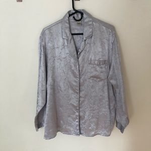 Crushed Silk/Cotton Button Down